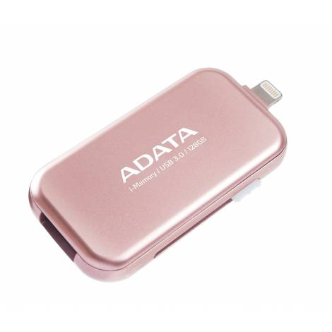 ADATA UE710 128 GB i-Memory Apple Lightning/USB 3.0 Flash Drive for iOS iPad/iPhone/Mac and PC - Rose Gold