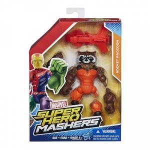 HASBRO MARVEL SUPER HERO MASHERS FIGURE WITH WEAPON - ROCKET RACCOON (B0875)