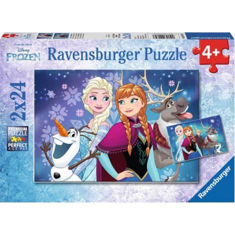 RAVENSBURGER PUZZLE FROZEN (2X24pcs.) (09074)
