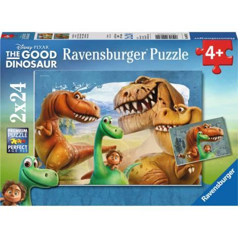 RAVENSBURGER PUZZLE THE DINOSAURS (2X24pcs.) (09079)