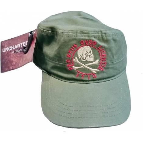 UNCHARTED 4 – SKULL PRO DEUS QVOD LICENTIA - GREEN CADET CAP