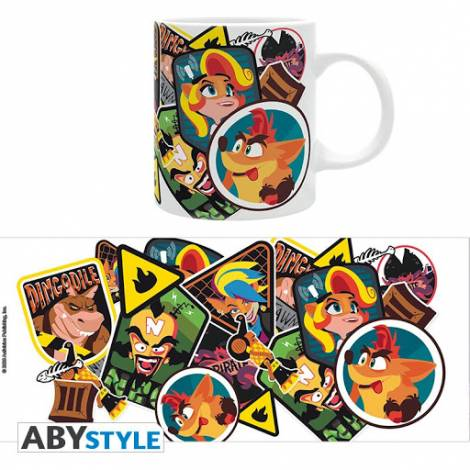 Abysse Crash Bandicoot Sticker Crash 320ml Mug (ABYMUG858)