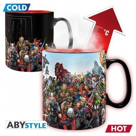Abysse Marvel - Marvel Heroes460ml Heat Change Mug (ABYMUG641)