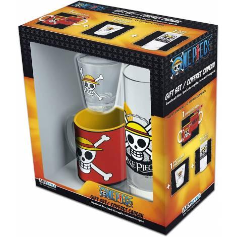 Abysse One Piece - Skull Luffy Water Glass + Shot Glass + Mini Mug Giftset (ABYPCK132)