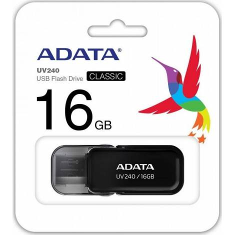 ADATA DashDrive UV240 16GB USB2.0 Flash Drive, Black (AUV240-16G-RBK)