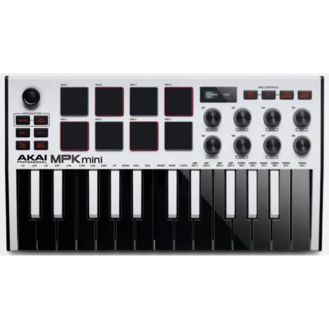 AKAI MPK Mini White ΜΚ3 Midi Keyboard 25 Πλήκτρων
