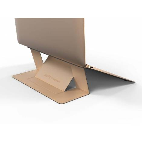 Allocacoc Adhesive Foldable Laptop Stand Gold (DH0117GD/MOFTST)