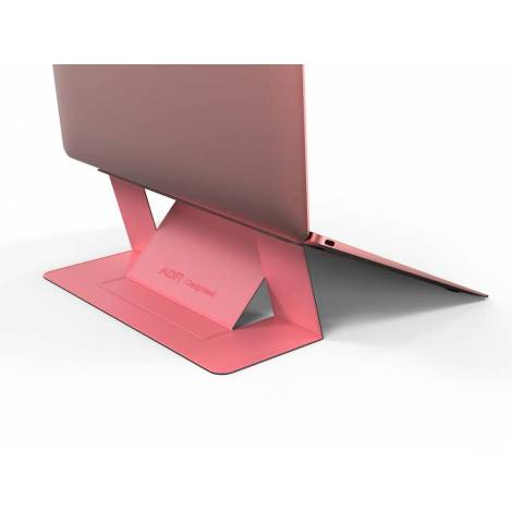 Allocacoc Adhesive Foldable Laptop Stand Pink (DH0117PK/MOFTST)