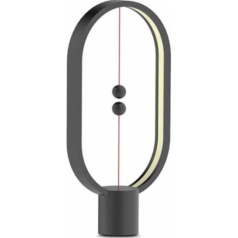 Allocacoc Heng Balance Type-C |Plastic Lamp Ellipse| Διακοσμητική λάμπα με μαγνητικό διακόπτη (Μαύρο) (DH0075BK/HBLEUC)