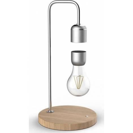 Allocacoc® Levitating Light Bulb |Table Lamp| Μαγνητικό αιωρούμενο επιτραπέζιο φωτιστικό (ασημί) (DH0106/EULELP)
