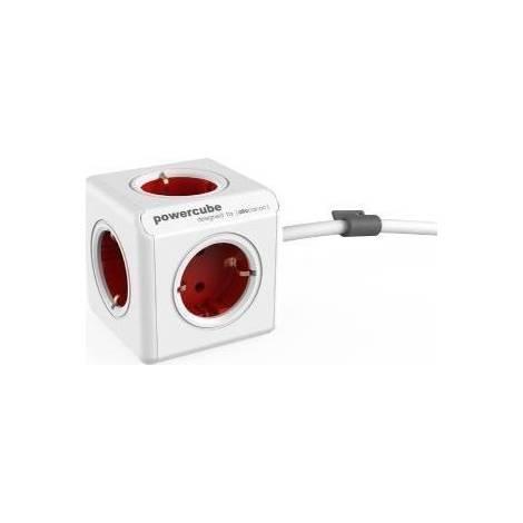 Allocacoc PowerCube Extended 1.5m Κόκκινο (1306RD/DEEXPC)