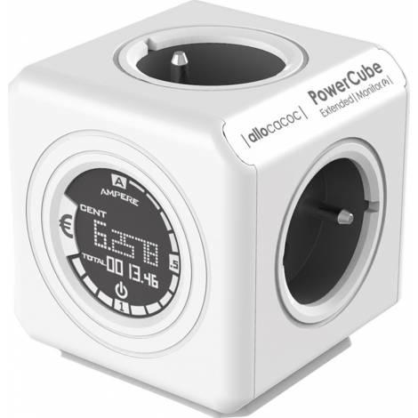 Allocacoc® PowerCube |Extended Monitor| Πολύπριζο 4 θέσεων - Γκρι - (8910/DEEXMO)