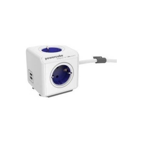 Allocacoc PowerCube Extended USB 1.5m μπλέ