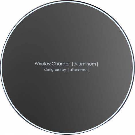 Allocacoc Wireless Charging Pad (Qi) Μαύρο (Aluminium 10W) (11023BK/WLCGAL)