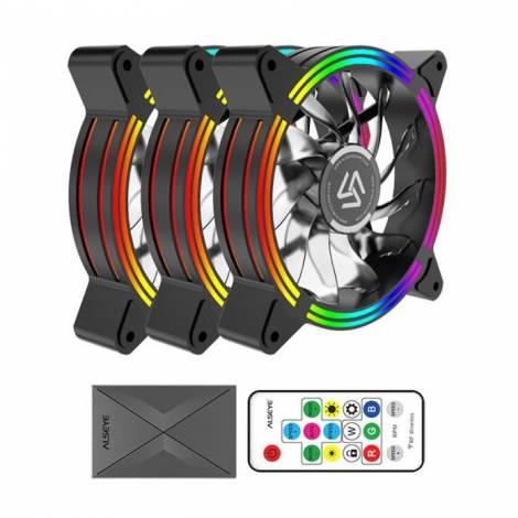 Alseye Case Cooler 12cm RGB-Fan x3 kit HALO 4.0