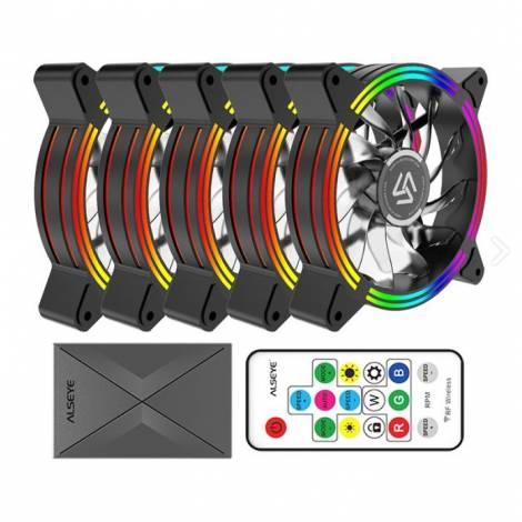 Alseye Case Cooler 12cm RGB-Fan x5 kit HALO 4.0