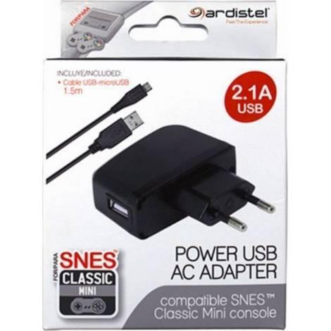 Ardistel Ac USB Adapter 2.1A Φορτιστής For Snes Mini