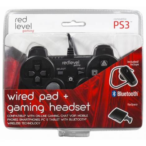 Ardistel Redlevel DualShock Wired/Ενσύρματο Controller & Bluetooth Headset (Black)PS3)