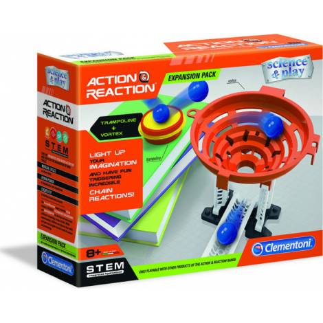 AS Clementoni Science & Play STEM - Action Reaction Funnel + Elastic Pad Expansion Pack (1026-19116)