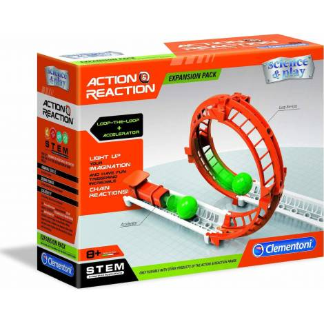 AS Clementoni Science & Play STEM - Action Reaction Loop + Accelerator Expansion Pack (1026-19115)