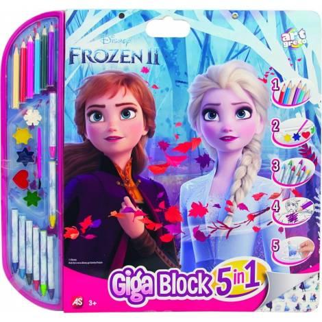 AS Frozen - Σετ Ζωγραφικής Giga Block Painting Set 5 Σε 1 (62722)