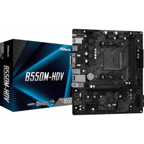 Asrock B550M-HDV Motherboard Micro ATX με AMD AM4 Socket (90-MXBDJ0-A0UAYZ)