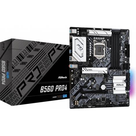 Asrock B560 Pro4 Motherboard ATX με Intel 1200 Socket (90-MXBF10-A0UAYZ)
