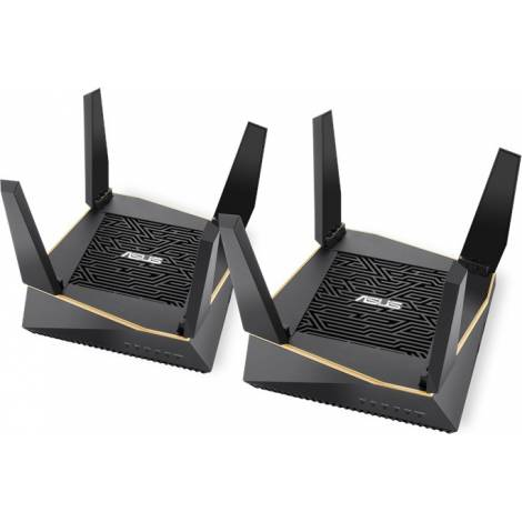 ASUS AiMesh AX6100 wireless router Tri-band (2.4 GHz / 5 GHz / 5 GHz) Gigabit Ethernet Black(90IG04P0-MO3020)