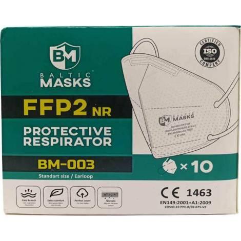 Baltic Masks FFP2 Protective Respirators Λευκό 10τμχ (BM-003)
