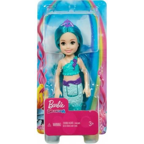 Mattel Barbie Chelsea Γοργόνα με Πετρόλ Μαλλία (GJJ89)