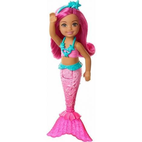 Mattel Barbie Dreamtopia Chelsea Γοργόνα με Φούξια Μαλλιά (GJJ86)