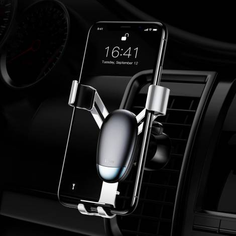 BASEUS βάση αεραγωγού αυτοκινήτου SUYL-G0S για smartphone, ασημί suyl g0s