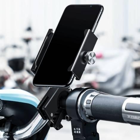 BASEUS βάση μηχανής για smartphone CRJBZ-01 Knight, μεταλλική, μαύρη