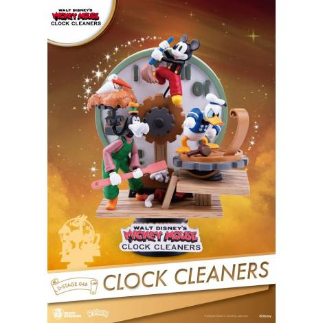 Beast Kingdom - Disney Mickey Mouse D-Stage PVC Diorama Clock Cleaners 15 cm