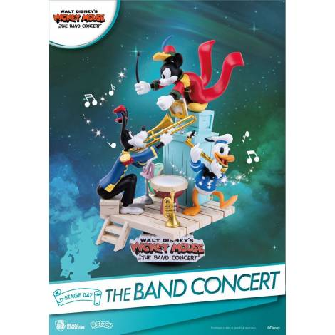 Beast Kingdom - Disney Mickey Mouse D-Stage PVC Diorama The Band Concert 15 cm