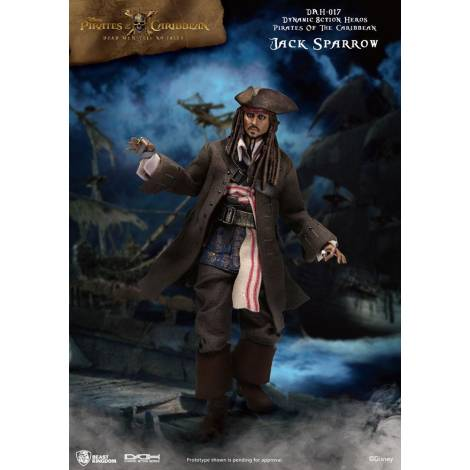 Beast Kingdom - Pirates of the Caribbean Dynamic 8ction Heroes Action Figure 1/9 Jack Sparrow 20 cm Action figures Disney