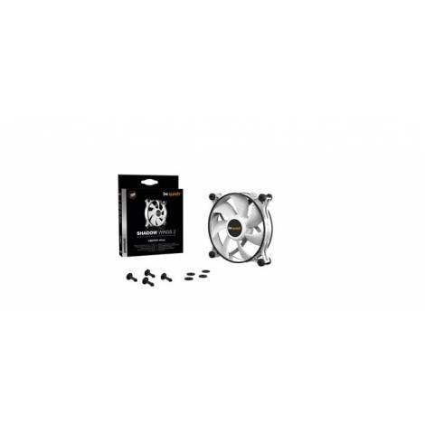 BEQUIET FAN SHADOW WINGS 2 WHITE 120MM BL088, 3 PIN, 1100RPM, 38,5CFM/65M3/H, 15,7 dB, Lifespan 80000h, WHITE, 3YW.