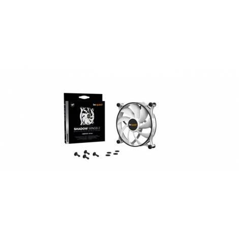 BEQUIET FAN SHADOW WINGS 2 WHITE 140MM BL090, 3 PIN, 900RPM, 49,8CFM/85M3/H, 14,7 dB, Lifespan 80000h, WHITE, 3YW.