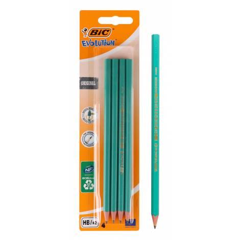 BIC μολύβι γραφίτη 2168902762 Evolution, εξάγωνο, HB, πράσινο, 4τμχ  ( 2168902762 | 29924 )