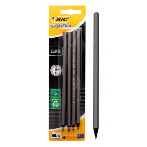 BIC μολύβι γραφίτη 216896016 Evolution, εξάγωνο, HB, μαύρο, 4τμχ (216896016 | 29925)