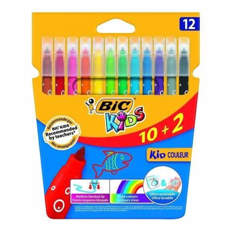 BIC σετ χρωματιστών μαρκαδόρων ζωγραφικής 216010322 KID Couleur, 12τμχ  ( 216010322 | 29923 )