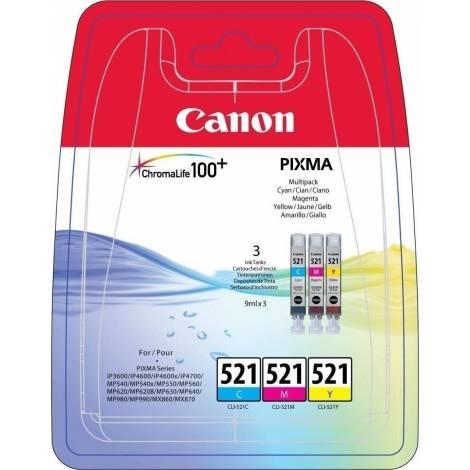 Canon CLI-526 - Δοχείο Μελανιού - Κυανό/Ματζέντα/Κίτρινο