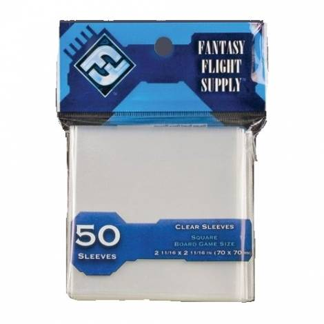 CARD SLEEVES SQUARE 70x70 (50 Sleeves)