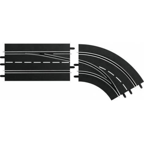 Carrera Slot Accessories - DIGITAL 124/132 - Lane change curve right, Out to In (20030365)
