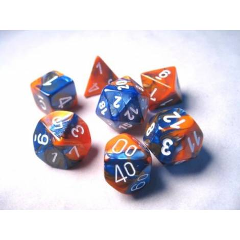 CHESSEX Blue-Orange-White 7 dice (CHX26452)