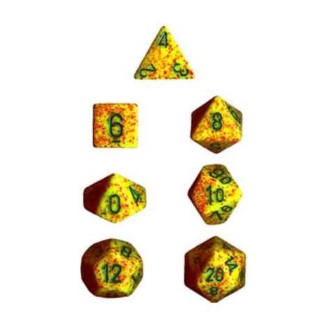 CHESSEX Spreckled Lotus 7 Die Set  (CHX25312)