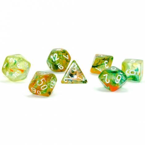 Chessex Luminary Spring / White Polyhedral (CSX27555)
