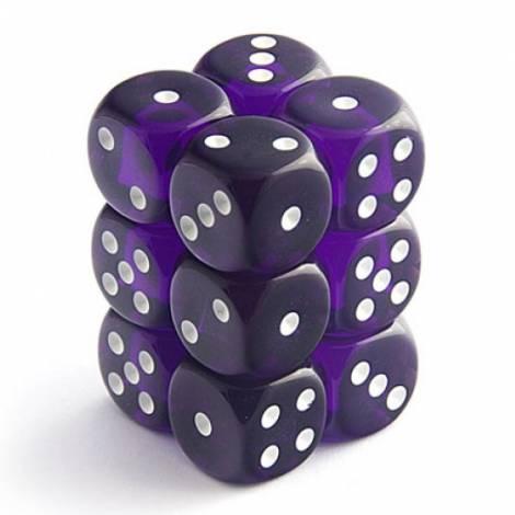 CHESSEX Purple White 12 Dice Set (CHX23607)