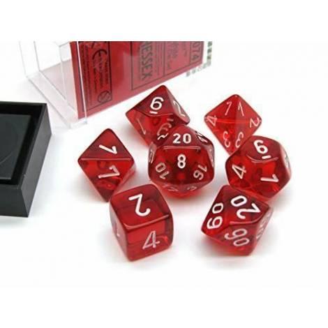 CHESSEX Red-White 7 dice (CHX23074)