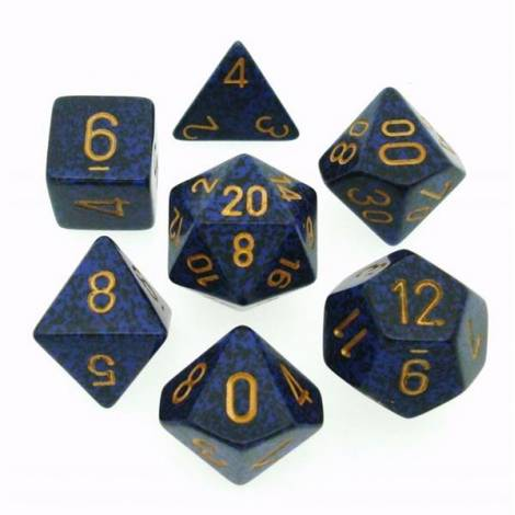 Chessex Speckled Golden  Cobalt 7-Die Set (CHX25337)